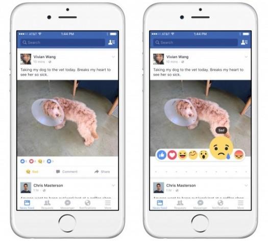 facebook reactions sad