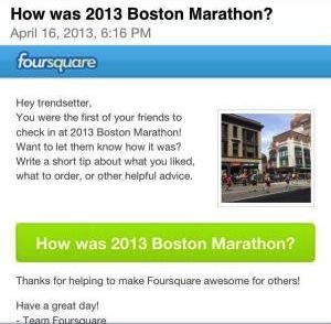 Boston Bombing - Foursquare