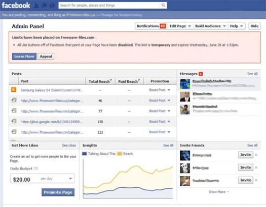 Facebook Takedown