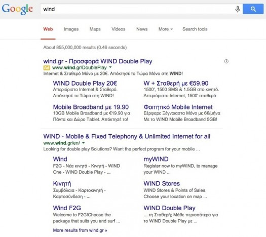 Wind Adwords